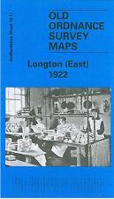 OLD ORDNANCE SURVEY MAP LONGTON EAST 1922
