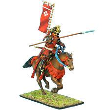 SAM021 Mtd. Samurai Charging w/Yari & Sashimono - Takeda Clan by First Legion