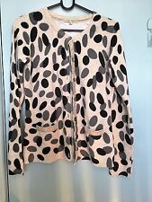 Laura Ashley grey white and black spotted cardigan in size S