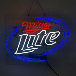 """New Miller Lite Beer Neon Light Sign Lamp 19""""x15"""" Acrylic"""