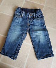 Baby Gap Boys Jeans 6-12 mths Elasticated & Button Waist Good Condition