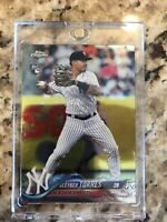 2018 Topps Chrome Update Series Gleyber Torres RC HMT26 Rookie Card NY Yankees