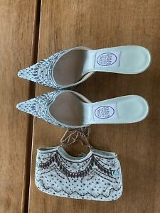 NEW EMMA HOPE  POINTY SLING BACK SHOES size 41 or UK 7.5 And Bag