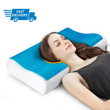 Memory Foam Pillow with Cooling Gel Orthopedic Bed Pillow - with Case Reversible