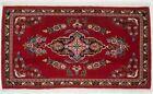 Small Entryway Red 2X3 Pictorial Birds Design Handmade Oriental Area Rug Carpet