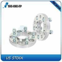 2 pcs 20mm 5x4.5 wheel spacers silver 70.5 mm 14x1.5 for Ford Mustang