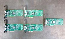 Lot of 5 HP 458491-001 Dual Port PCI-e Gigabit Network Adapters     (3a07)
