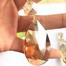 1PCS 50mm Amber Crystal Pendants Prisms Hanging Crystal Prisms Chandelier Parts