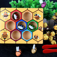 Children's Montessori Beehive Game Puzzle Early Education Funny Wooden Toy
