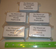 500 laminated Fry High Frequency Flashcards. First thru Fifth Hundred. 4.25x2.25