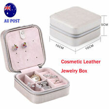 Cosmetic Leather Jewelry Box Necklace Ring Travel Storage Case Organizer  BK