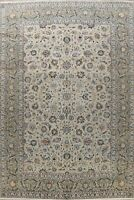 Antique Green Traditional Floral Oriental Hand-knotted Area Rug Wool Carpet 9x12