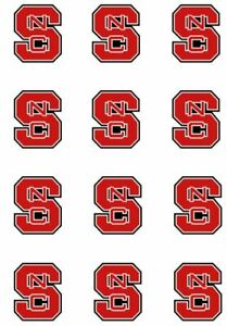 """Cake Toppers North Carolina State Cupcake Toppers Edible 2"""" Frosting Circles"""
