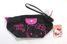 Hello Kitty Black bag clutch purse w/Pink Trim  Novelty