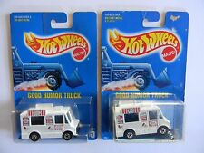 PAIR (#1)-RARE-GOOD HUMOR TRUCK-BLUE CARD #5-HOT WHEELS-ORIGINAL-VHTF~VARIATIONS