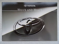 Toyota Hiace and Hilux brochure 1995 - Compact, 4WD, Petrol, Diesel