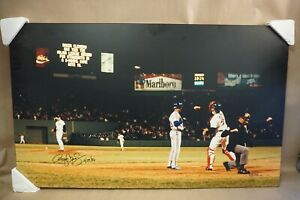 """RARE Roger Clemens Framed 23"""" X 38"""" AUTOGRAPHED '1st 20 K's, 4/29/86 *SI Photo*"""