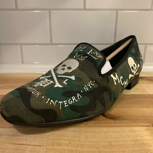 NEW Polo Ralph Lauren Willard Green Camouflage Slip On Loafers Shoes Mens US 8 M