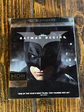 New listing Batman Begins 4K Uhd and Blu-ray w / Slipcover - Warner Bros.