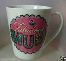 "ASHDENE ""FABULOUS MUM- LOVED ONES- FLARED MUG 16181 PORCELAIN MINT IN CLEAR BOX"