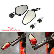 "7/8"" Handle Bar End Side Mirrors For 2003 2004 2005 2006 2007 Kawasaki Z1000 US"