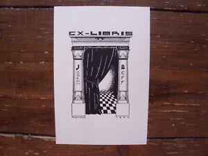 Exlibris Bookplat von Alexander Cock - 1929