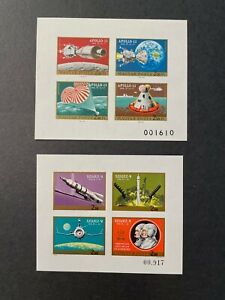 Hungary Scott C308+C309 Mint, Hinged Imperf Cats $35 for MNH. Soyuz 9. Apollo 13