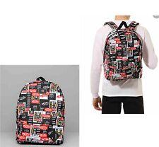 VANS Old Skool     3 Backpack Print Black Red Label Checkerboard School Bag Logo
