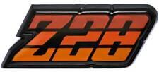 """1980-81 Camaro """"Z28"""" Orange Fuel Door Emblem"""