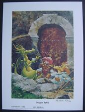 "KEN MACKLIN Signed Limited Edition Art Print ""DRAGON TALES"" 1000 Produced NM"