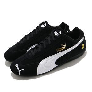 Puma Ferrari Speedcat Black White Men Unisex Motorsport Casual Shoes 306796-01