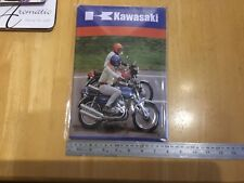 kawasaki triple kh250 s1a s2a kh350  pressed 3d metal sign for man cave garage