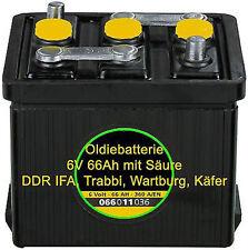 6 Volt Oldiebatterie Oldtimer Batterie Startbatterie Trabbi Wartburg IFA Käfer