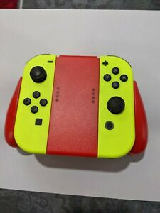 Nintendo Switch Neon Yellow Joy-Con Controllers L&R w/ controller adapter