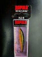 Rapala, Husky Jerk, Rattlin', Suspending, Gold, HJ06 G