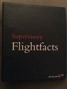 British Airways Cabin Crew Manuel Supervisory Flightfacts 1997 RARE
