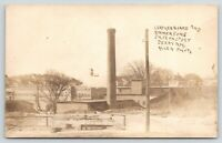 Derry New Hampshire~Leatherboard & Emersons Shoe Factory~Smokestack~c1910 RPPC