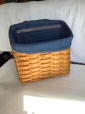 2000 Longaberger wall-hanging mail basket