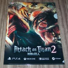 ATTACK ON TITAN 2 Video Game NEW YORK COMIC CON NYCC 2017 EXCLUSIVE PROMO POSTER