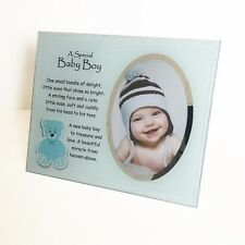 A Special Baby Girl / Boy Glass Photo Plaque and Stand