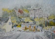 Cornish Fishing Village 'Boscastle' Watercolour John Deathridge c2000 British Sc
