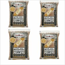 Wood Pellets Maple Hickory Cherry Blend 4 PACK 80lbs BBQ Smoker Grilling Fuel