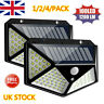 100 LED Solar Power PIR Motion Sensor Wall Lights Outdoor Garden Security Lamps*