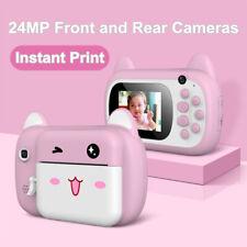 2.4 Inch 1080p Instant Print Kids Camera Digital Children Cartoon Selfie Camera