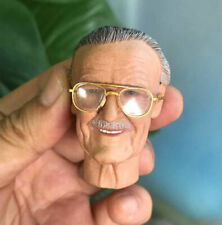 "1/6 Scale Stan Lee Smile Ver.Head Sculpt+Golden Sunglass For 12"" Figure Body Toy"
