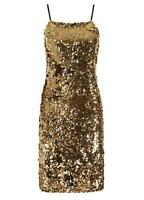 OLI GOLD SEQUIN CAMI DRESS SIZE 12 - 14 BNWT RRP £90.00