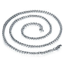 10pcs 21.6'' Wheat Braid chain Necklace stainless steel Wholesale Jewlery 3mm