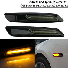 2x LED Turn Signal Side Marker Fender Lights For BMW E90 E91 E92 E60 E61 E81/87