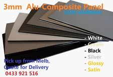 3mm Black Glossy Satin Aluminum Composite Panel/ Trailer Panel Sheet / 1220x2440