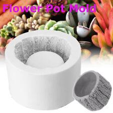 Bark Planter Silicone Concrete Mold Succulent Plant Flower Pot Vase Cement Mould